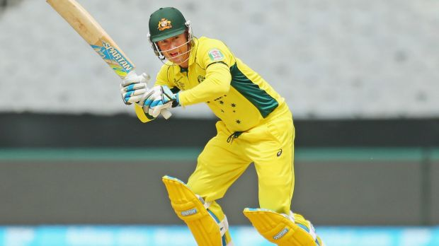 Michael Clarke of Australia bats against UAE.