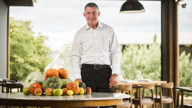 Pialligo Estate co-owner Rowan Brennan inside the Farmhouse restaurant when it opened in 2015.