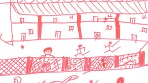 How a child has depicted life in detention.