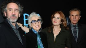 From left: Tim Burton, artist Margaret Keane, Amy Adams and Christoph Waltz at the <i>Big Eyes</i> New York premiere at ...