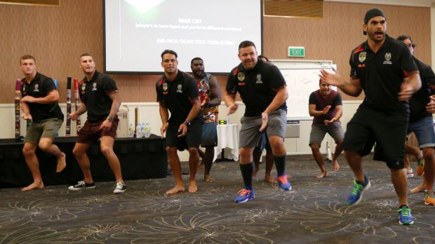 War drance: Greg Inglis leads the Indigenous team during practice.