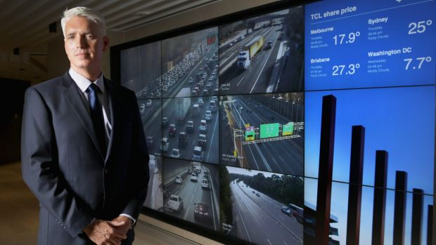 Transurban CEO Scott Charlton expects self-driving cars will make tollroad traffic flow faster