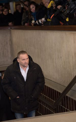 French businessman and defendant Fabrice Paszkowski leaves the courthouse.