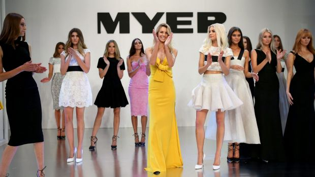 Models at the Myer Autumn Winter 2015 Fashion Launch in Melbourne