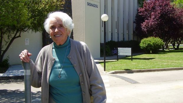 Sister Mary Brady, pictured in 2010, always had a smile at the ready.