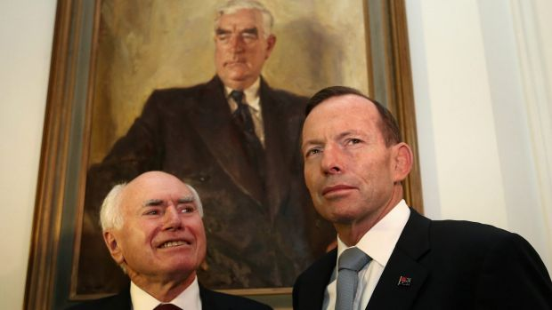 Former prime ministers John Howard and Tony Abbott plan to hit the road to campaign for a No vote in the same-sex ...