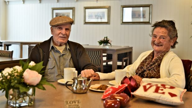 Salvatore and Tindiri will spend their 61st Valentine's Day together this year.