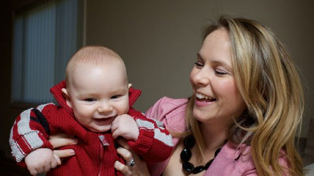 Belinda Burton, with son Henry, was thankful for her private health insurance cover during her pregnancy.