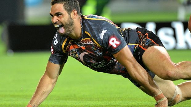 Greg Inglis' spectacular try levelled the score for the Indigenous All Stars.