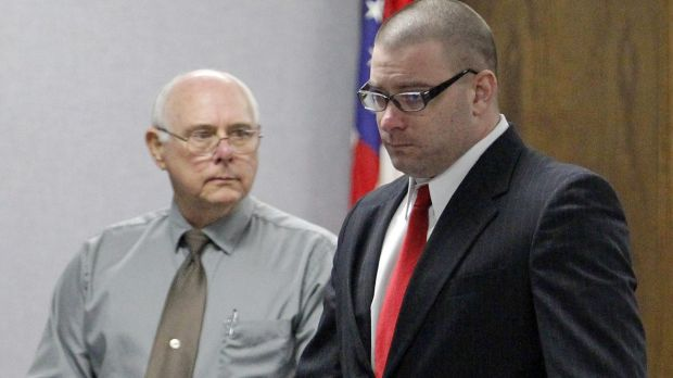 Ex-Marine Eddie Ray Routh enters the courtroom in his capital murder trial.