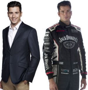 Doubling up: Rick Kelly as a commentator and as the racer.