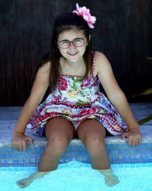 Cancer survivor Maria Psaradellis, 9, of Sydney.
