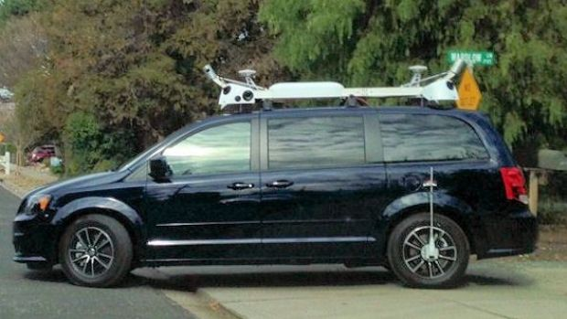 The mysterious Apple minivans, recently pictured cruising the streets of California.
