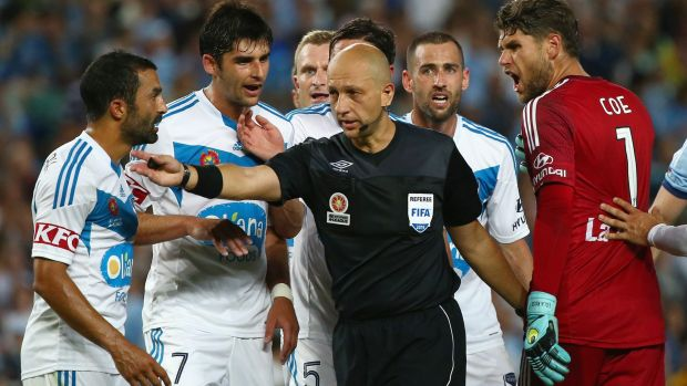 Strebre Delovski awarded a controversial penalty to Sydney FC on Saturday night.
