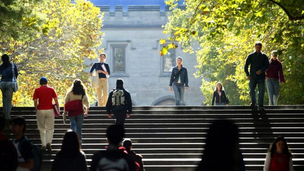Melbourne Uni: popular with US students.