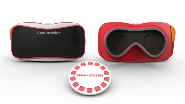 The View-Master reimagined as a virtual reality headset.