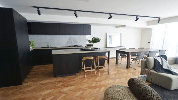 This apartment at the Queen Victoria building was converted from a car park.