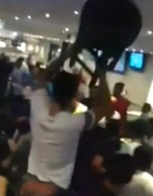 A brawl broke out at an RSL in Sydney.