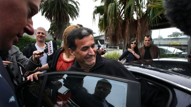 Bill Bayeh after his release from Silverwater prison in 2011.