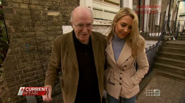 Leanne Nesbitt with Clive James. She revealed they had an eight-year affair in 2012.
