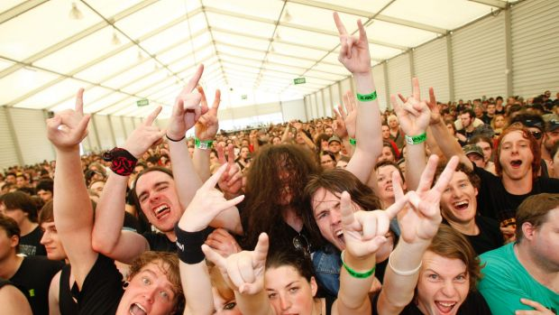 Revellers at the Soundwave festival. The government has scrambled to organise free shuttle buses for this year's event.