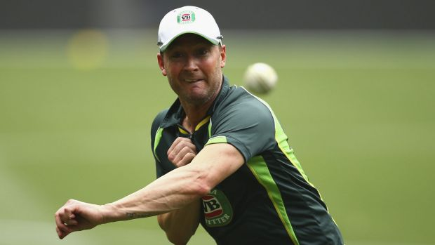 Restrictions loosened: Michael Clarke looks on track to return during the World Cup.