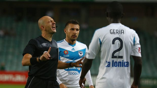 Tough times: A-League referees, including Strebre Delovski, have come in for criticism in recent weeks.