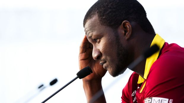 Downcast: West Indies seamer Darren Sammy after the loss.