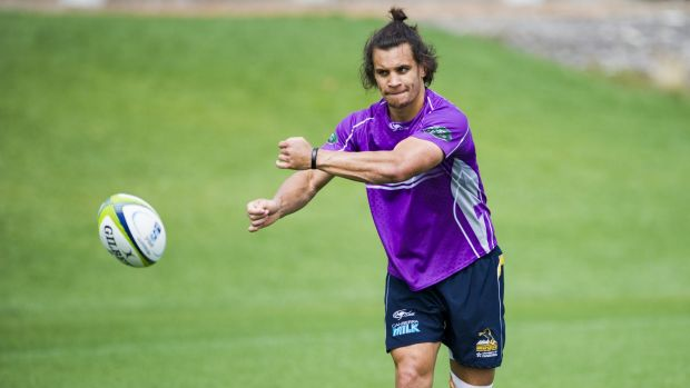 Brumby Matt Toomua will have his hands full trying to stop Sonny Bill Williams.
