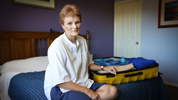 Elaine Brakspear in her Port Macquarie home. Elaine is disappointed with travel booking company Airbnb and their ...