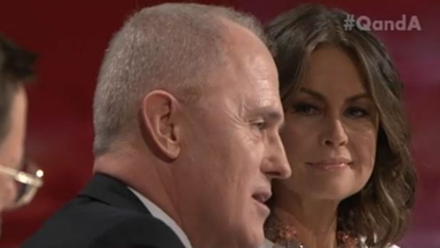 Malcolm Turnbull and Lisa Wilkinson on Q&A.