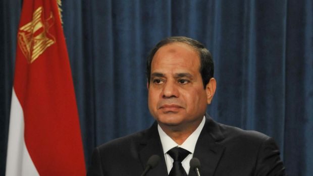 Striking back ... Egyptian   President Abdel-Fattah el-Sissi continues to target Islamic State jihadists in Libya after ...