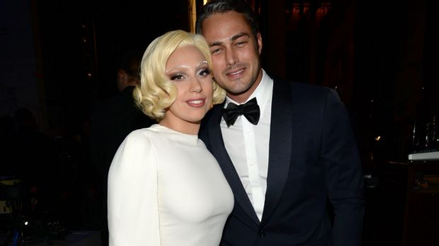 Engaged: Taylor Kinney popped the question to Lady Gaga on Valentine's Day.