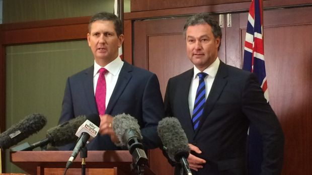 LNP leader Lawrence Springborg with deputy John-Paul Langbroek