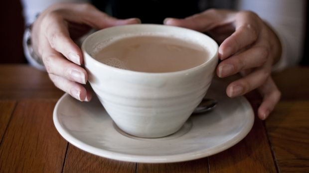 Brewed awakening: It's official, the perfect cuppa requires the milk to be added first.