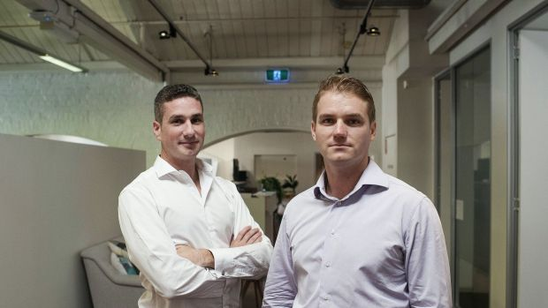 Prospa joint chief executives Greg Moshal (left) and Beau Bertoli say they are in discussions with numerous banks about ...