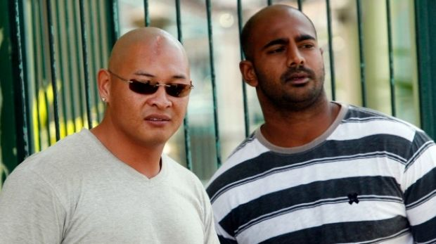 Australian Andrew Chan and Myuran Sukumaran  seen during the Indonesian independence day celebration inside the ...
