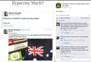 The Facebook post shared by the Australian Defence League.