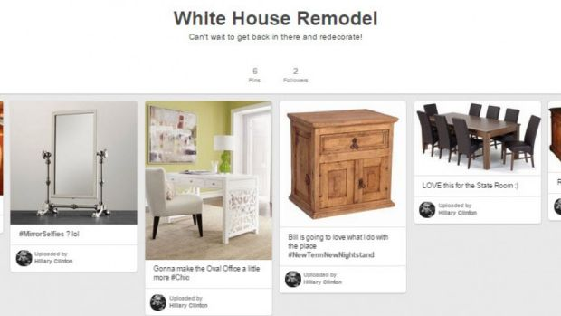 Rand Paul's sexist Hilary Clinton Pinterest included the board 'White House Remodel'.