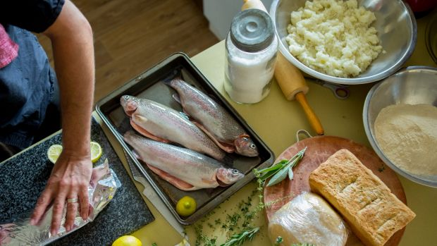 """Local"" is overtaking organic as the must have label for food-conscious consumers. Preparing trout caught at the Tuki ..."