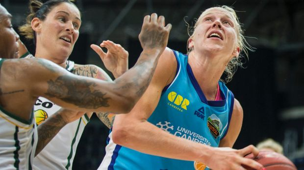 Mum's the word: Canberra Capitals star Abby Bishop has a busy schedule.