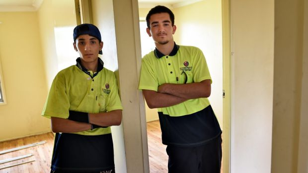 Zaia Yelda and James Cipollino, both 16, can see a future for themselves now that they have a job.