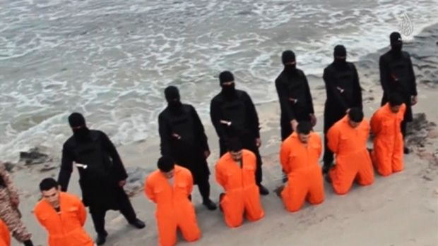 Islamic State militants force Egyptian Coptic Christians to kneel before beheading them in Libya in just one of many ...