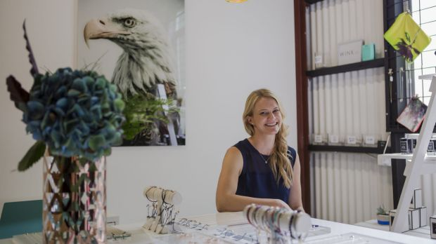 Owner of Wink Jewellery Marissa Christian in her new store at The Hamlet.