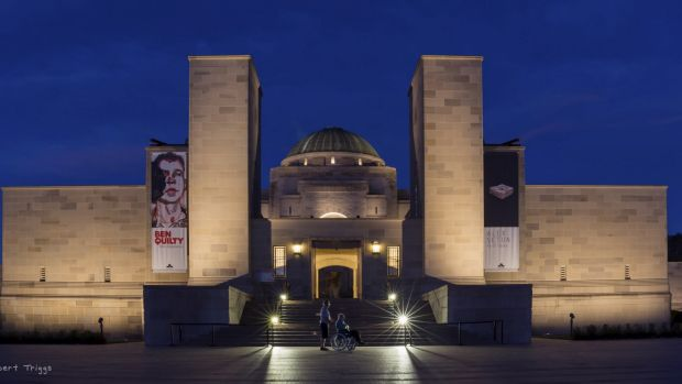 Robert Triggs'  entry to the Canberra Times summer photo competition. Summer sunset - The blue hour, War Memorial.
