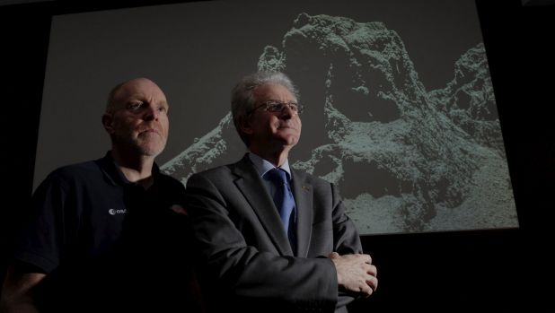 The European Space Agency's senior science adviser Mark McCaughrean and head of missions operations Paolo Ferri at CSIRO ...