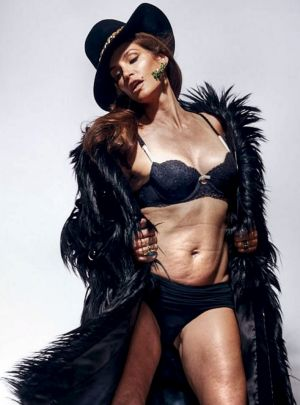 The image of Cindy Crawford which was stolen and then make to look like this...allegedly.