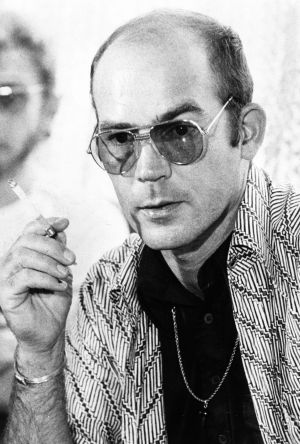 Controversial American author Dr Hunter S. Thompson in 1976.