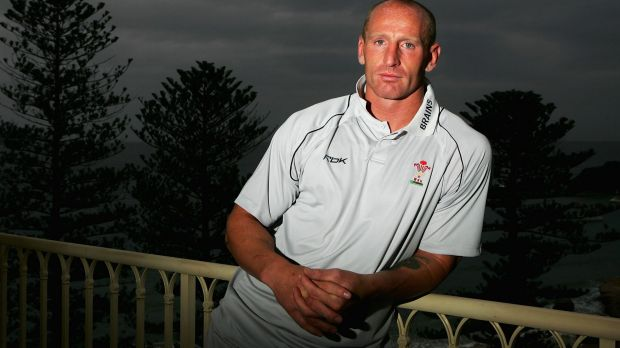 Welsh great: Gareth Thomas at Terrigal in NSW in 2007 after announcing he was gay.