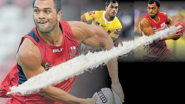 White line fever: Karmichael Hunt is the central figure in the latest scandal to rock Australian sport.